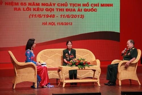 Art exchange mark traditional day for patriotic emulation - ảnh 1
