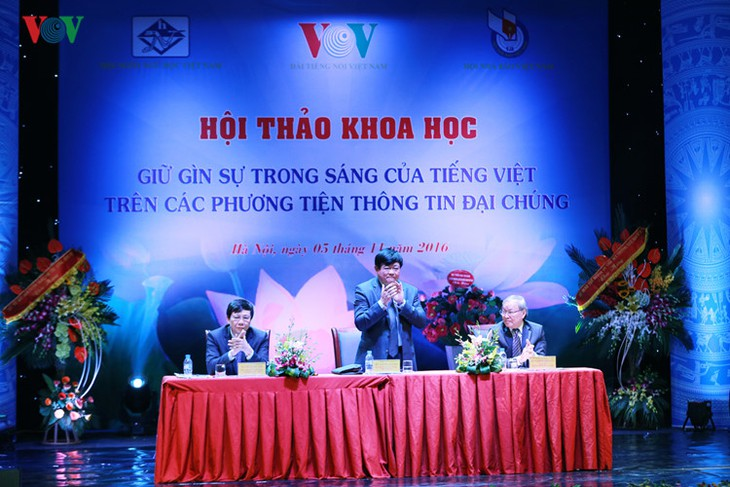 Seminar on preserving Vietnamese language on mass media concludes - ảnh 1