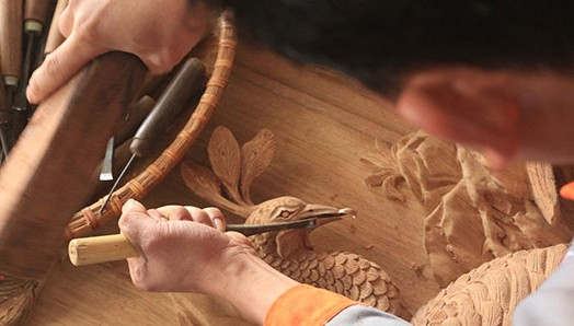 Dong Giao wood carving village in Hai Duong province - ảnh 2