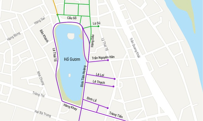 Hanoi expands pedestrian streets around Hoan Kiem Lake - ảnh 2