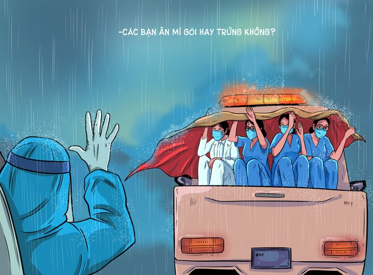 Thang Fly Comics tells semi-realistic stories of love and compassion amid COVID  - ảnh 5