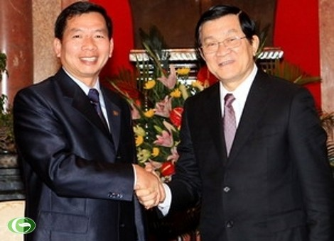 Staatspräsident empfängt den Richter des laotischen Obersten Gerichtshofes - ảnh 1