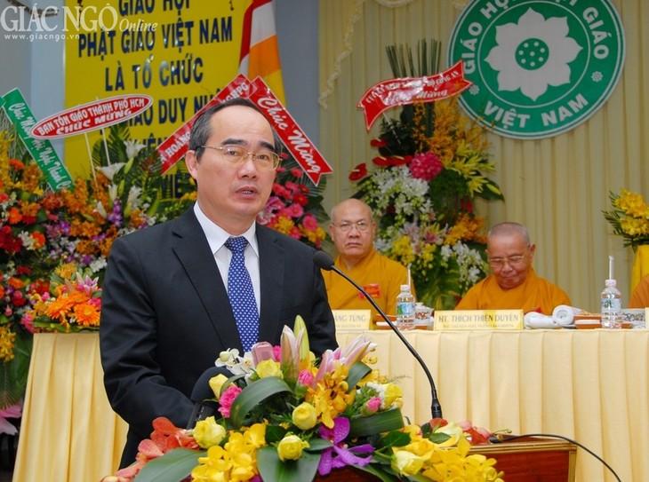 Verstärkung der Solidarität des Buddhismus Vietnams mit dem der anderen Länden - ảnh 1