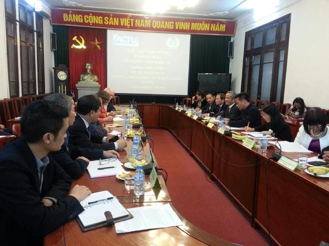Verstärkung der Zusammenarbeit der Gewerkschaften zwischen Vietnam und Australien - ảnh 1