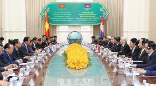 Gemeinsame Erklärung über Freundschaft und Zusammenarbeit zwischen Vietnam und Kambodscha - ảnh 1