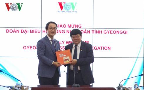 Verstärkung der Zusammenarbeit zwischen VOV und der südkoreanischen Provinz Gyeonggi - ảnh 1