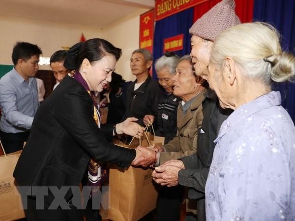 Parlamentspräsidentin Nguyen Thi Kim Ngan besucht die Provinz Ha Tinh - ảnh 1