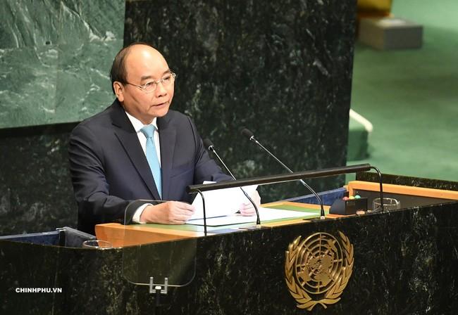 Premierminister Nguyen Xuan Phuc nimmt an der hochrangigen Diskussion der UN-Vollversammlung teil - ảnh 1