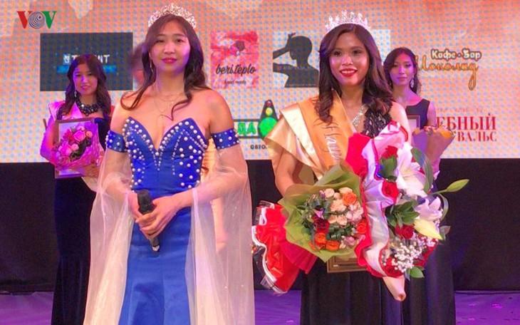Vietnamesische Studentin gewinnt den zweiten Platz beim Miss Asia Ural in Russland - ảnh 1