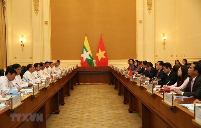 Ausbau der Freundschaft zwischen Vietnam und Myanmar - ảnh 1