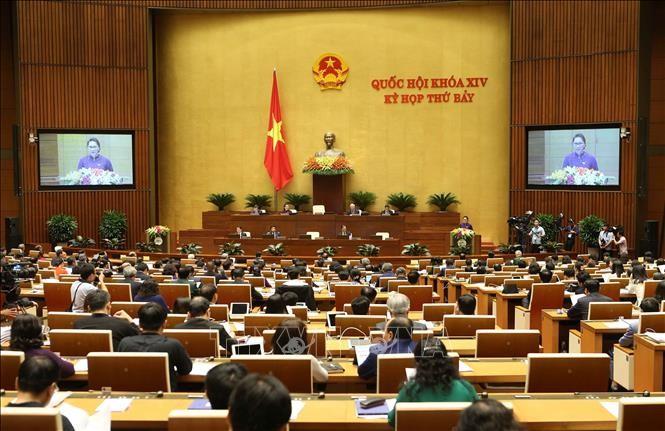Pressemitteilung über die Eröffnung der 8. Sitzung des Parlaments der 14. Legislaturperiode - ảnh 1