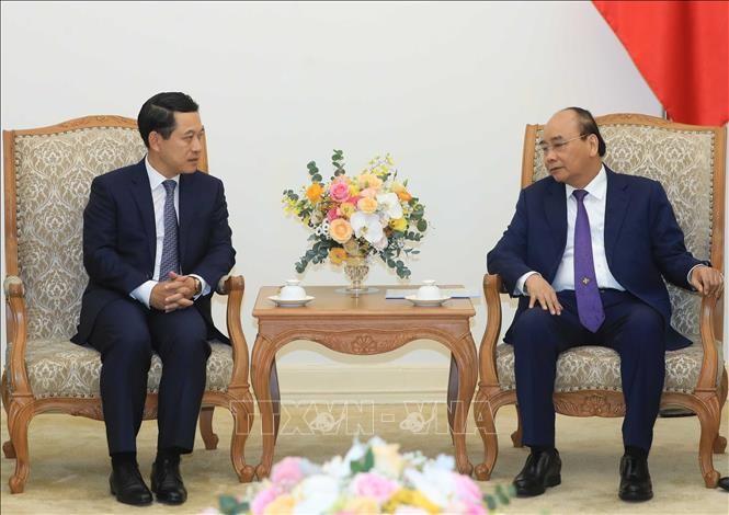 Premierminister Nguyen Xuan Phuc empfängt den laotischen Außenminister - ảnh 1