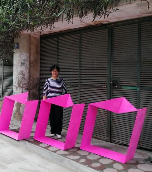 """Ausstellung """"Stahl und Stoff"""" der Bildhauerin Le Thi Hien und Malerin Tran Thanh Thuc - ảnh 1"""
