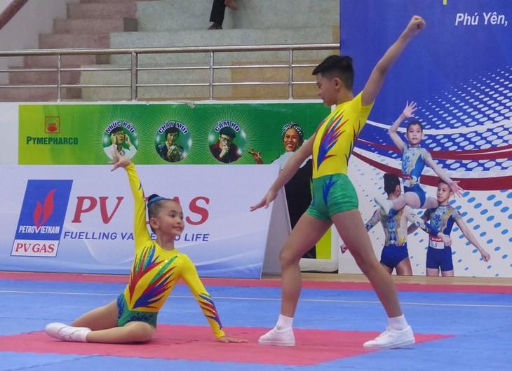 Eröffnung des nationalen Gymnastik-Turniers Aerobic - ảnh 1