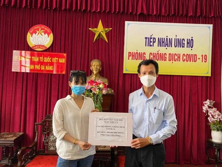 Covid-19: Schönheitskönigin Tieu Vy unterstützt Da Nang fast 9000 US-Dollar - ảnh 1