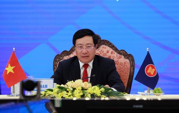 Außenministerkonferenz der ASEAN gibt gemeinsame Erklärung ab - ảnh 1