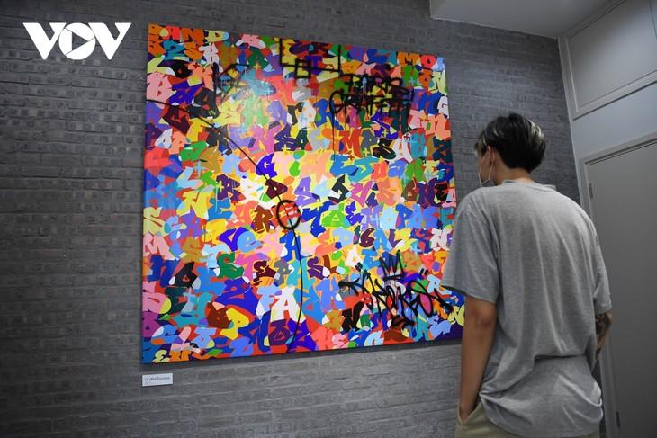 Erste private Ausstellung des französischen Graffiti-Künstlers mit vietnamesischer Abstammung in Hanoi - ảnh 1