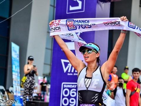 Erster Hanoi Triathlon: Spielplatz für Schwimmen, Radfahren und Laufen - ảnh 1