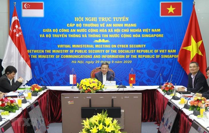 Verstärkung der Zusammenarbeit zwischen Vietnam und Singapur in Cybersicherheit - ảnh 1