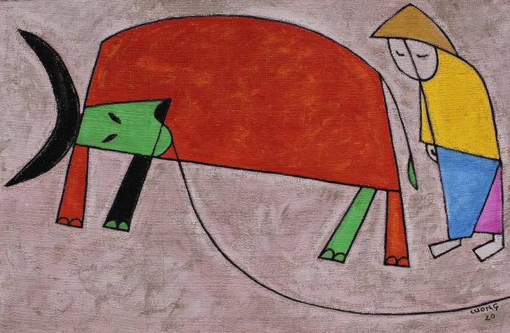 """Ausstellung """"Begrüßung des Goldenen Büffels"""" in Hanoi - ảnh 1"""