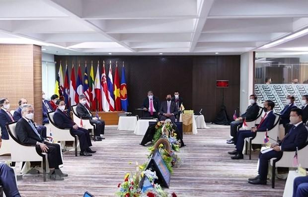 ASEAN leaders urge immediate cessation of violence in Myanmar  - ảnh 1