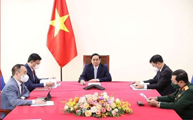PM holds online talks with Turkish Vice President - ảnh 1