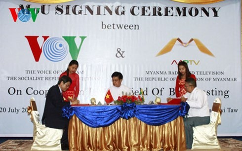VOV promotes broadcasting cooperation with Myanmar and India - ảnh 2