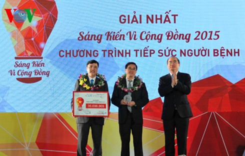 Prizes awarded for community initiatives competition - ảnh 1