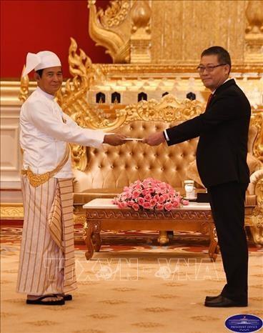 缅甸总统高度评价缅越合作 - ảnh 1
