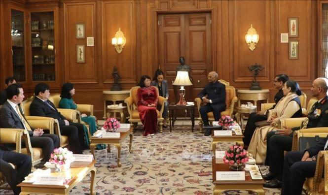 越南国家副主席邓氏玉盛会见印度总统拉姆·纳特·科温德 - ảnh 1