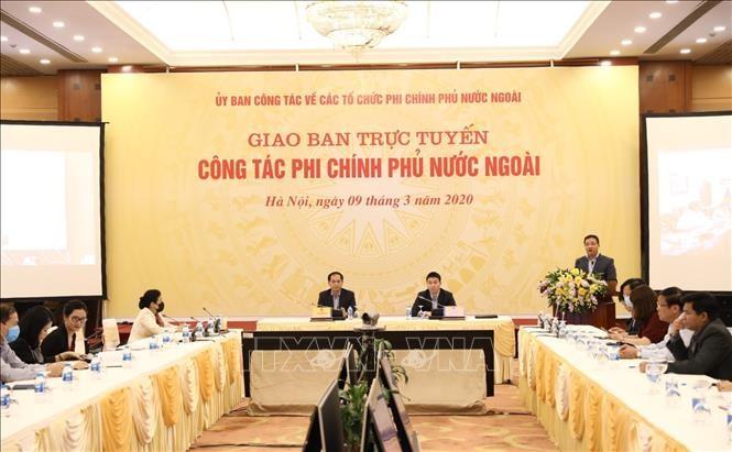 2019年外国非政府组织工作视频会议在河内召开 - ảnh 1