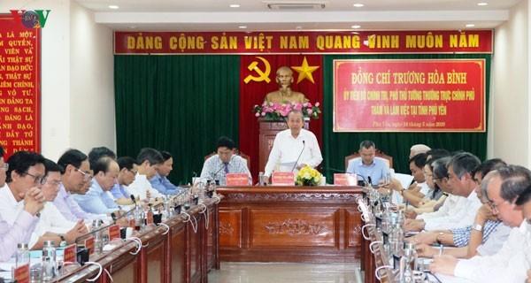 越南政府副总理张和平视察富安省 - ảnh 1