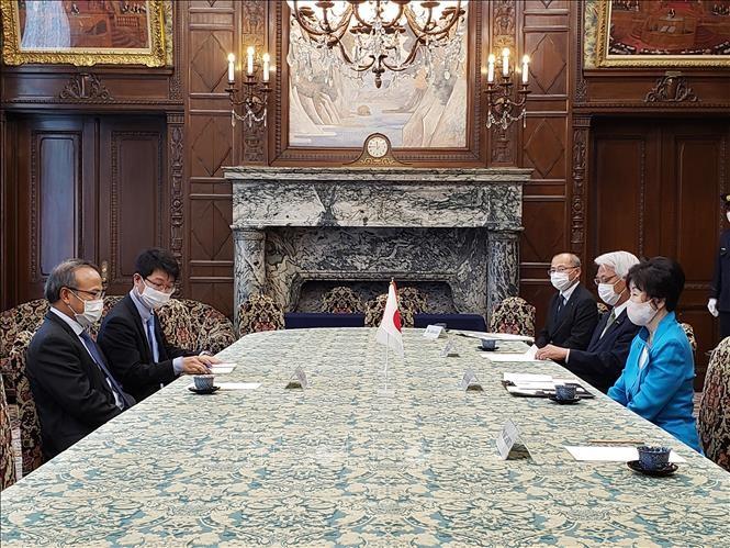 日本参议院议长对越南人民同心协力防控新冠肺炎疫情予以高度评价 - ảnh 1