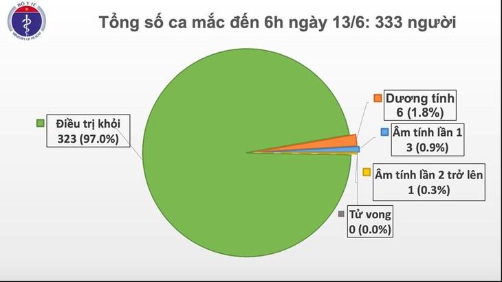 越南仍有6人新冠病毒检测结果呈阳性 - ảnh 1