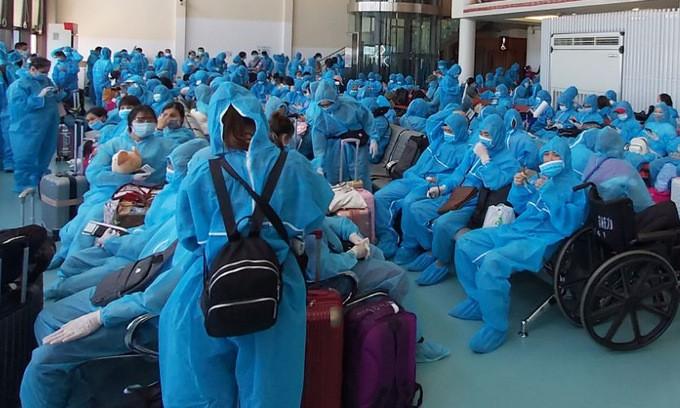 将300多名在中国台湾的越南公民接回国 - ảnh 1