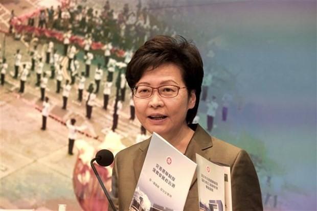 中国香港特别行政区长官林郑月娥公布特区发展规划 - ảnh 1