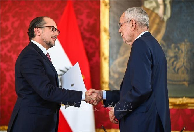 奥地利新总理沙伦贝格宣誓就职 - ảnh 1