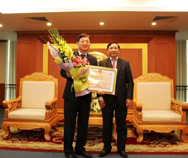 Auszeichnung für südkoreanischen Botschafter Woo Jun Sohn - ảnh 1