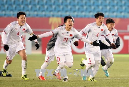 Staatspräsident Tran Dai Quang verleiht Arbeitsorden an vietnamesische U23 Fußballer - ảnh 1