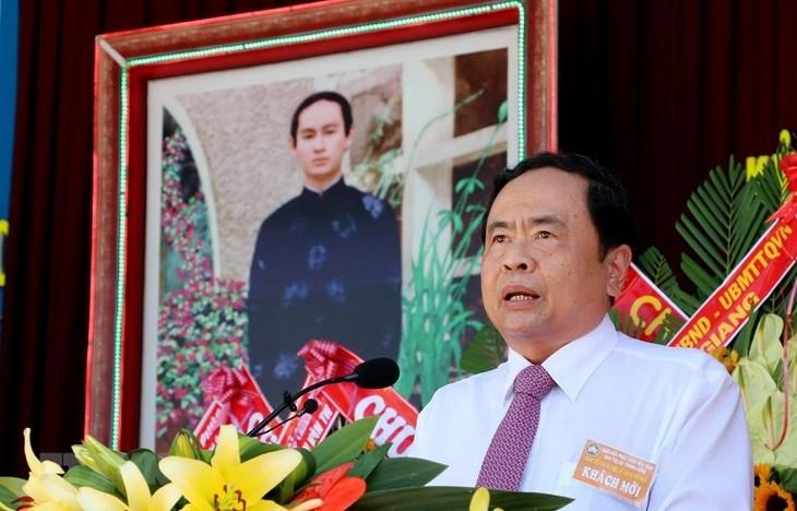 Vorsitzender der vaterländischen Front Vietnams Tran Thanh Man nimmt an Feier vom Hoa Hao-Buddhismus teil - ảnh 1
