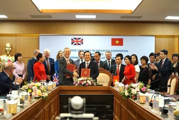 Förderung der Zusammenarbeit in der Erziehung zwischen Vietnam und Großbritannien - ảnh 1
