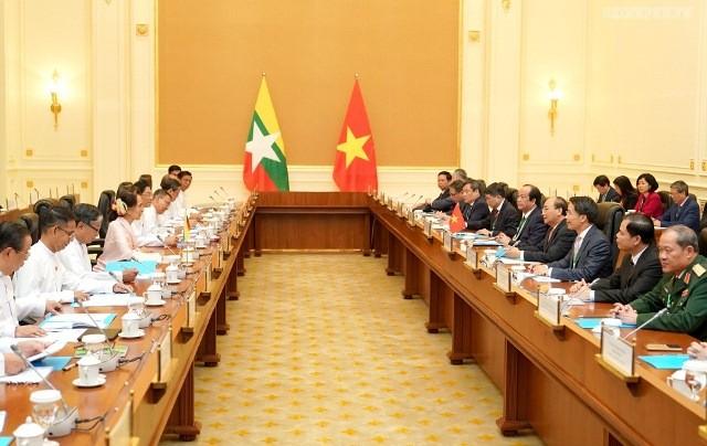 Gemeinsame Erklärung zwischen Vietnam und Myanmar - ảnh 1