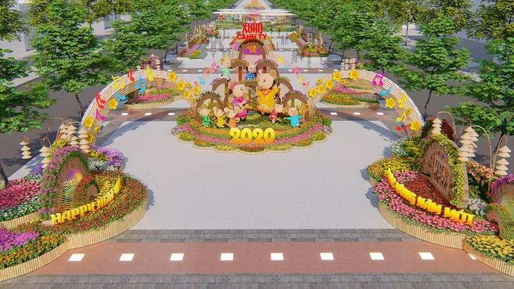 Blumenstraße Nguyen Hue in Ho-Chi-Minh-Stadt - Zwischen Moderne und Tradition - ảnh 1