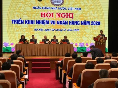 Premierminister Nguyen Xuan Phuc nimmt an Konferenz der Staatsbank teil - ảnh 1