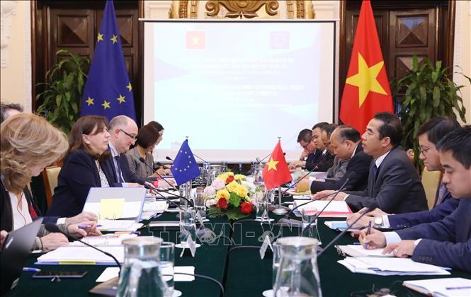 Erste Sitzung der Gruppen für politische Angelegenheiten zur Umsetzung der Zusammenarbeit zwischen Vietnam und der EU - ảnh 1