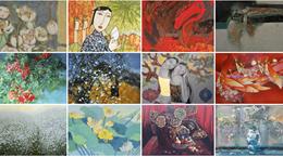 Ausstellung und Auktion der Bilder per Online zur Unterstützung der Bekämpfung von Covid-19 - ảnh 1