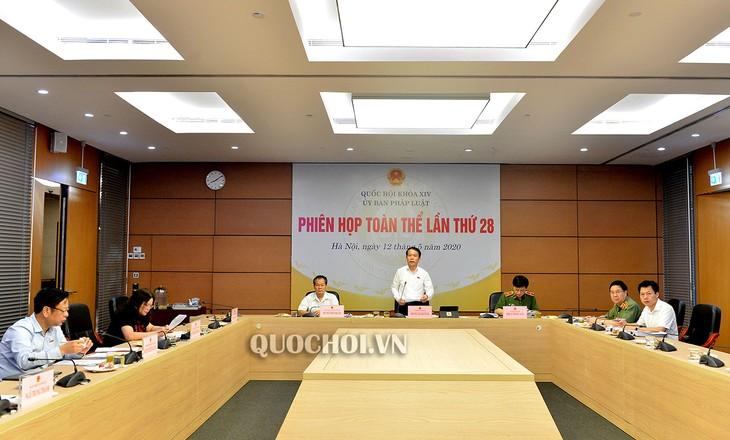 Sitzung des Rechtsausschusses des Parlaments - ảnh 1