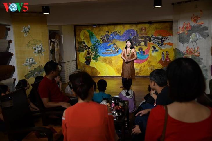 Kinder informieren sich über traditionelle Dui-Seiden Vietnams - ảnh 1