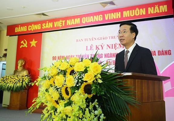 Feier zum 90. Jahrestag der Kommission für Aufklärung und Erziehung der Partei - ảnh 1