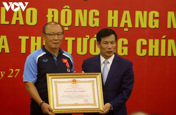 Trainer Park Hang-seo erhählt Arbeitsorden zweiter Klasse - ảnh 1